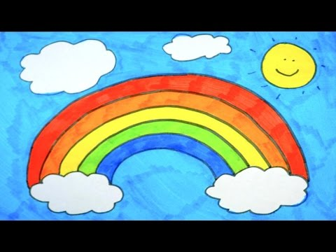 Speed Drawing Rainbow Dash's Colorful Rainbow | For Kids ...