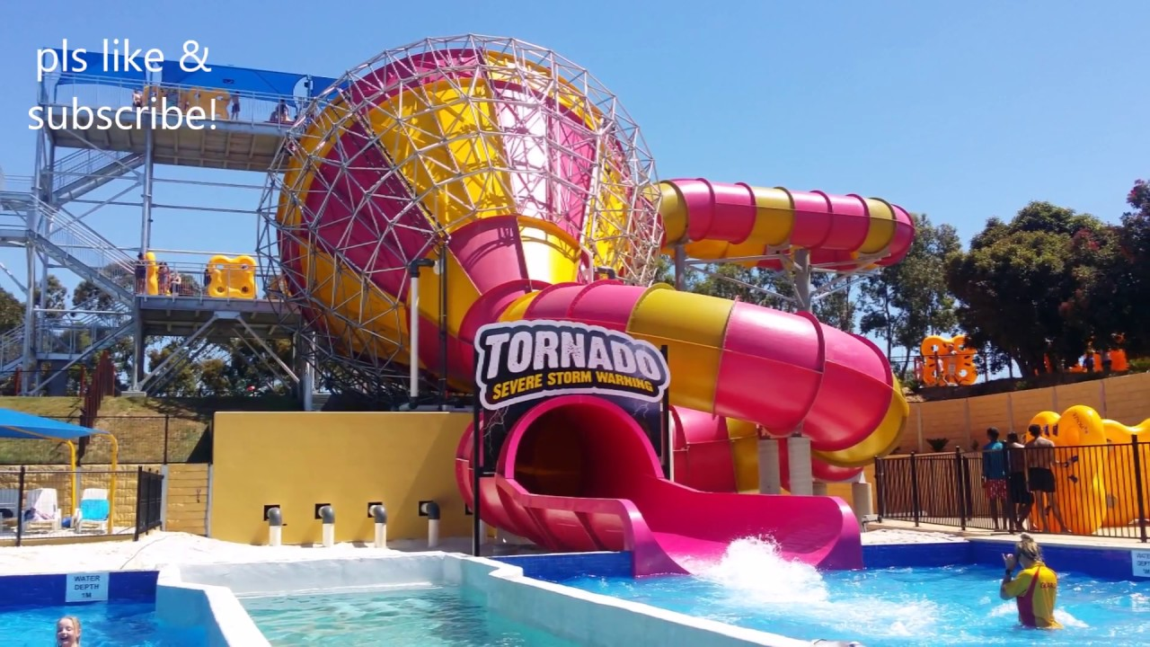 Adventure Park Geelong Melbourne Tornado Biggest Water Ride Lazy River Thrill Rides And More Youtube