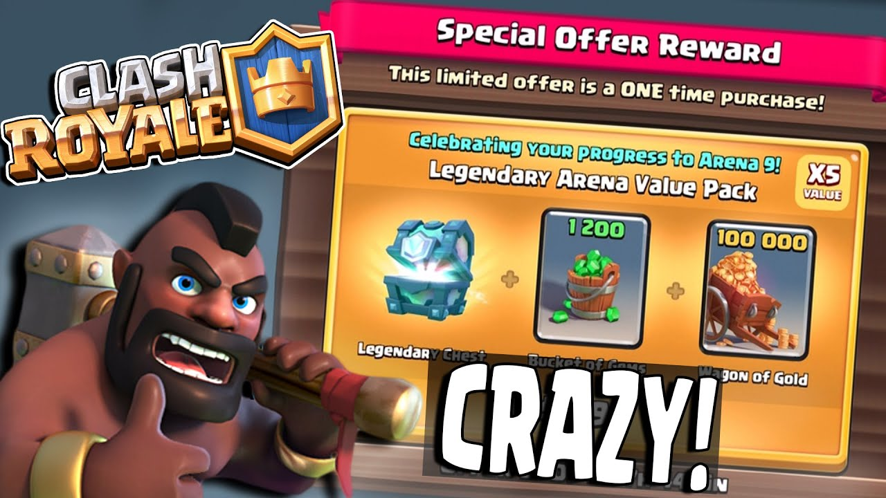 Clash Royale   CRAZY SPECIAL OFFER!! BASICALLY FREE LEGENDARY CHEST ...