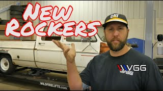 Installing New Rocker Panels On The Square Body Crew Cab! - Vice Grip Garage EP95