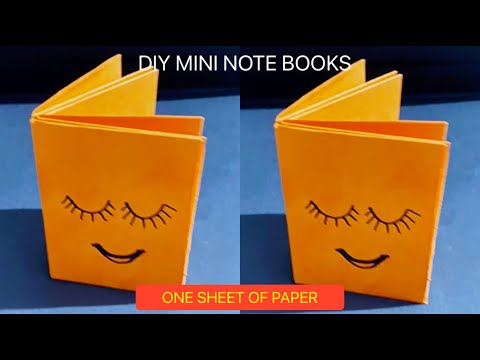 DIY MINI NOTEBOOKS ONE SHEET OF PAPER -DIY BACK TO SCHOOL / DIY MINI NOTEBOOKS WITHOUT GLUE