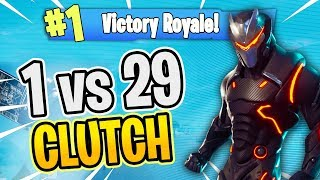 Clutching a 1v29! - Fortnite Battle Royale Gameplay - Wizzite