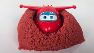 Learn Colors with Super Wings Toys and Kinetic Sand