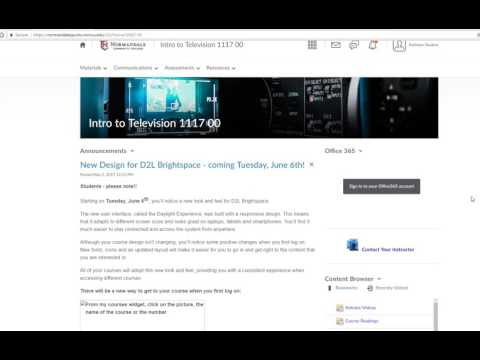Student D2L Brightspace - Daylight orientation video May 2017