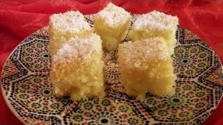 Basbousa - Egyptian Semolina Cake Recipe - CookingWithAlia - Episode 130