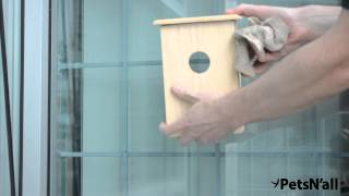 How To Secure The Petsn'all Real Wood Bird House With Clearview Window
