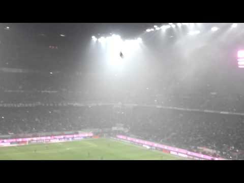 Milan fans singing