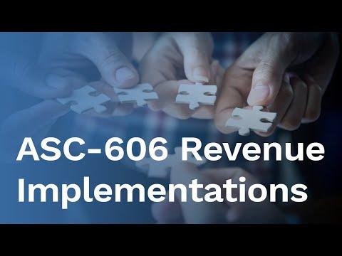 ASC-606 Revenue Implementations - Transition Methods, Data Extraction & Conversion