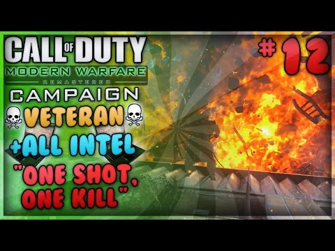"""One Shot, One Kill"" - Modern Warfare Remastered Campaign Veteran Playthrough + All Intel (#12)"