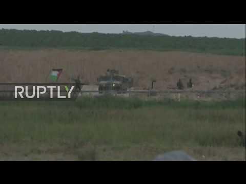 State of Palestine: Tear gas billows amid protest on Israel-Gaza border