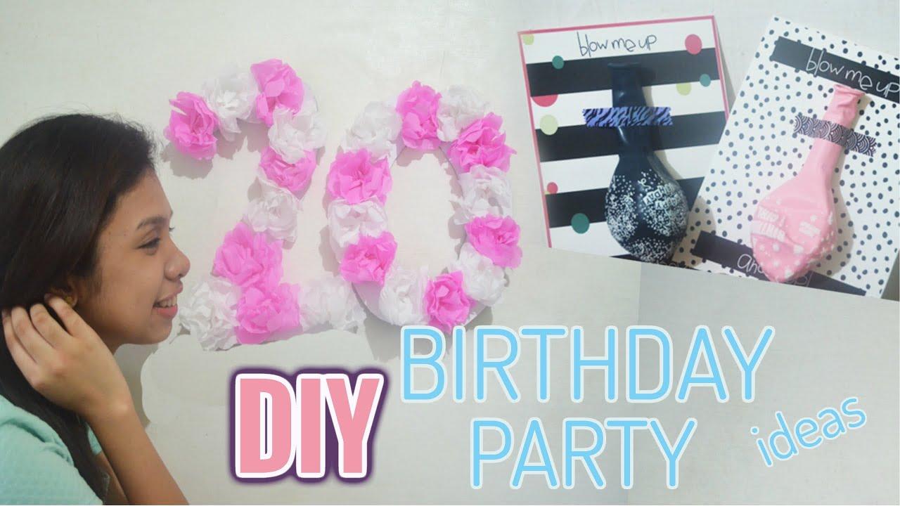 diy birthday party ideas pinterest inspired krizia jamille youtube