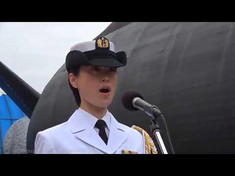 """三宅由佳莉さんの、国歌独唱(潜水艦「おうりゅう」)/ National Anthem by Yukari Miyake @ Launching ceremony of SS """"Oh-Ryu"""""""
