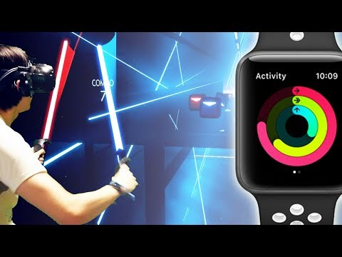 Light Saber WORKOUT|Beat Saber 'If You Want To Escape With Me'