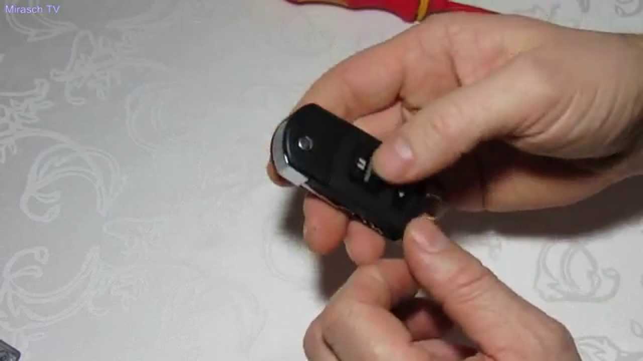 mazda 3 key schlüssel batterie wechseln