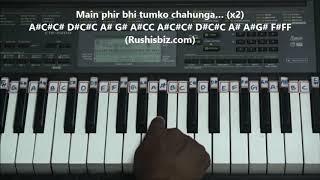 Download Mp3 Phir Bhi Tumko Chaahunga  Piano Tutorials  | 1200 Songs Book/pdf @399/- Only - 7