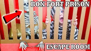 Box Fort Prison Escape Room! Breaking Out of Maximum Security Controlled by Alexa!!!