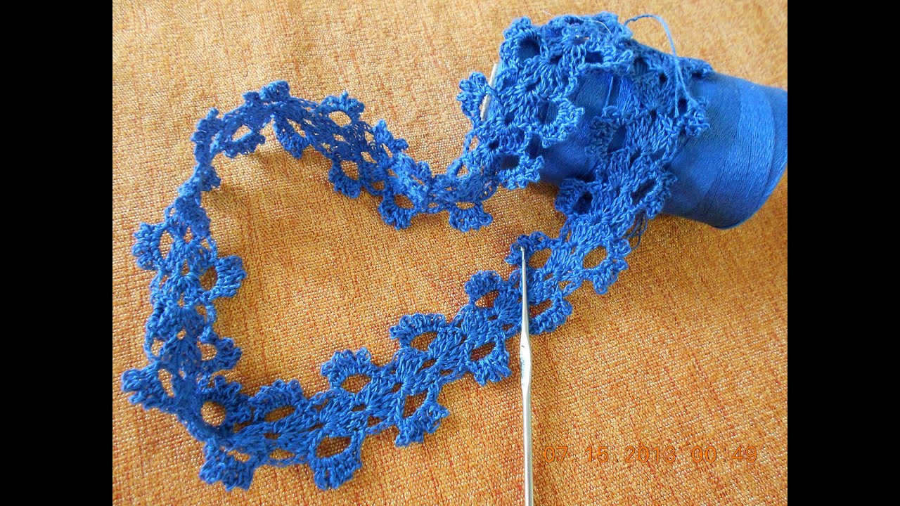 Crochet Encaje Fino - YouTube