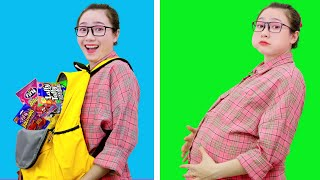 Weird Ways To SNEAK FOOD Into Class ++ Back To School Hacks and Pranks