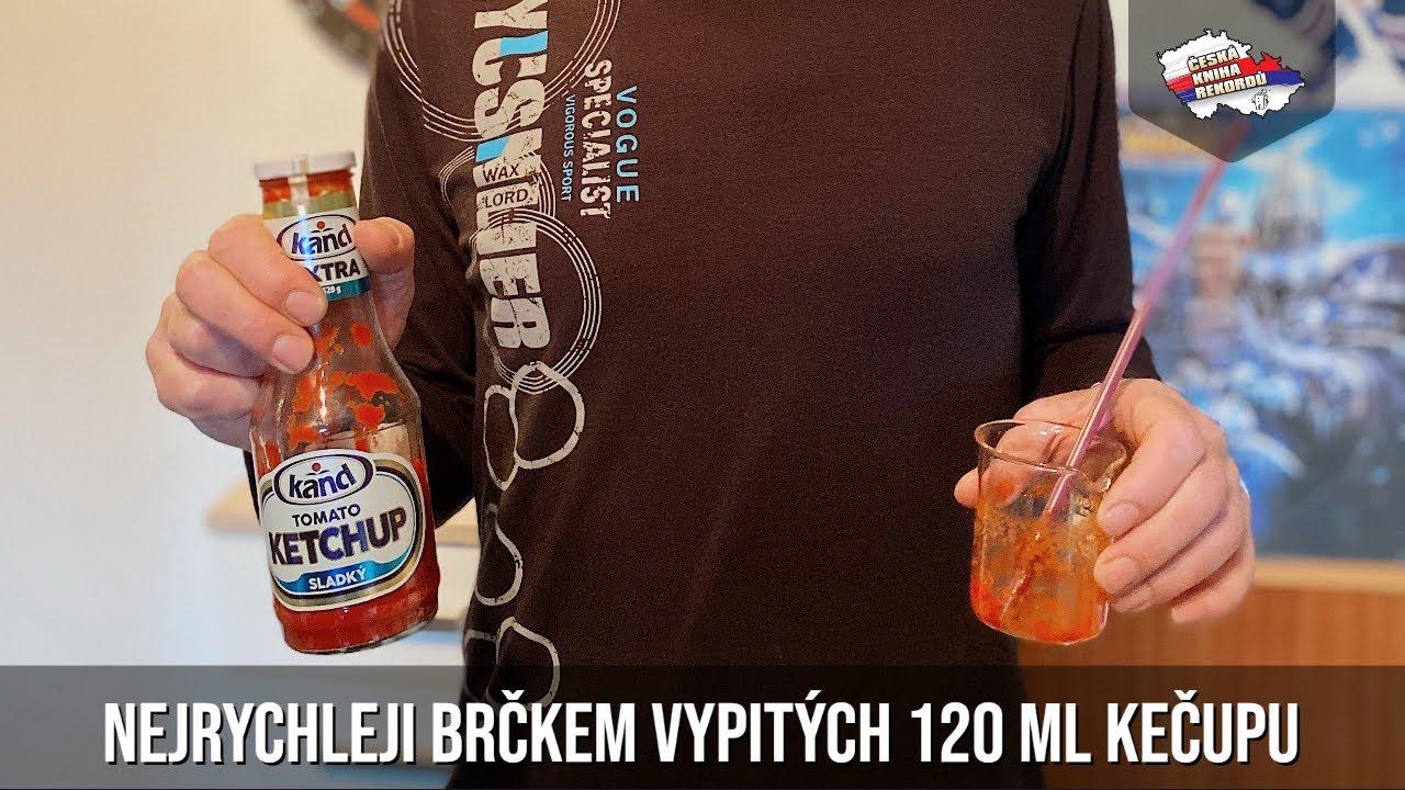 Video Nejrychleji brčkem vypitých 120 ml kečupu