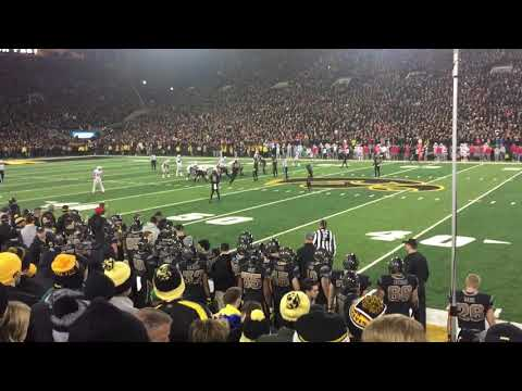 Last Two Plays of Iowa Hawkeyes 55-24 Win Over Ohio State Buckeyes and Desmond King's Field Rush