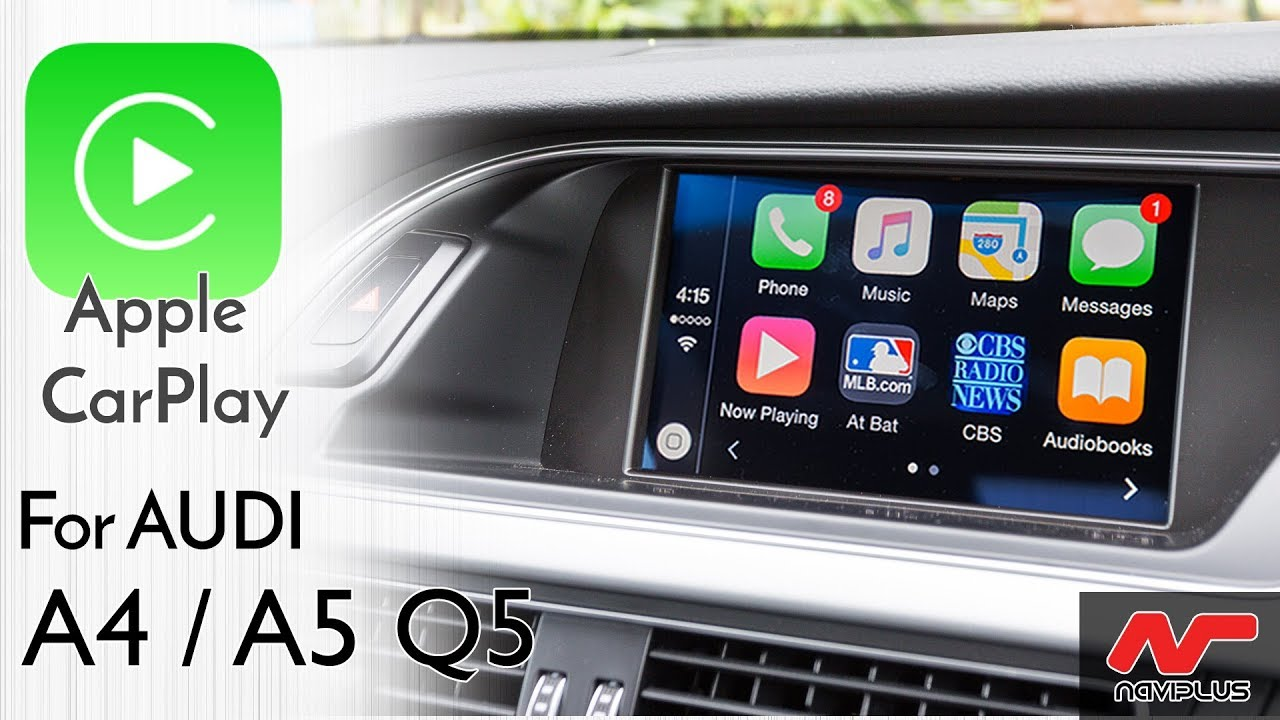 Touch Apple CarPlay Integration on Audi's 3G MMi - for A4 , A5 and Q5 from  2009 to 2015 models