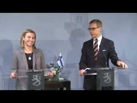 HRVP in Helsinki   Press conference with Alexander STUBB, Finnish Prime Minister