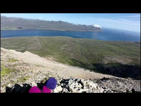 Geological fieldwork at the Sandfjell Laccolith, Iceland