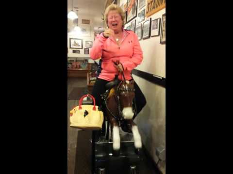 MOM ON A COIN OPERATED HORSE, HAPPY BIRTHDAY!!