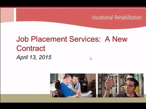 Vocational Rehabilitation Job Placement Process 2015