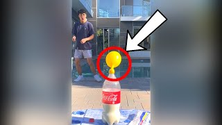 COKE EXPLOSION WITH BALLOON OVER IT! #Shorts