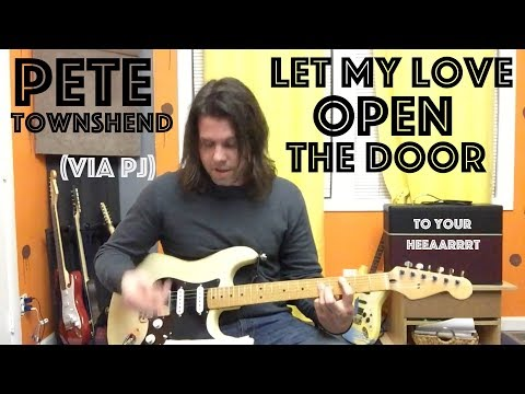 Guitar Lesson: How To Play 'Let My Love Open The Door' Like Eddie Does