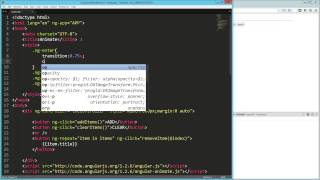 angularjs animation with ng enter and ng leave