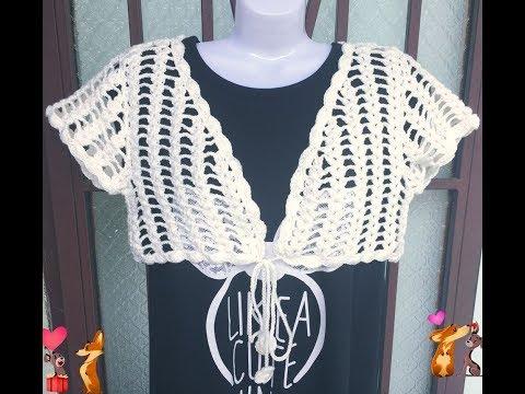 [Crochet Bolero Jacket Tutorial: TYPE 1] HƯỚNG DẪN MÓC ÁO KHOÁC LỬNG: MẪU SỐ 1