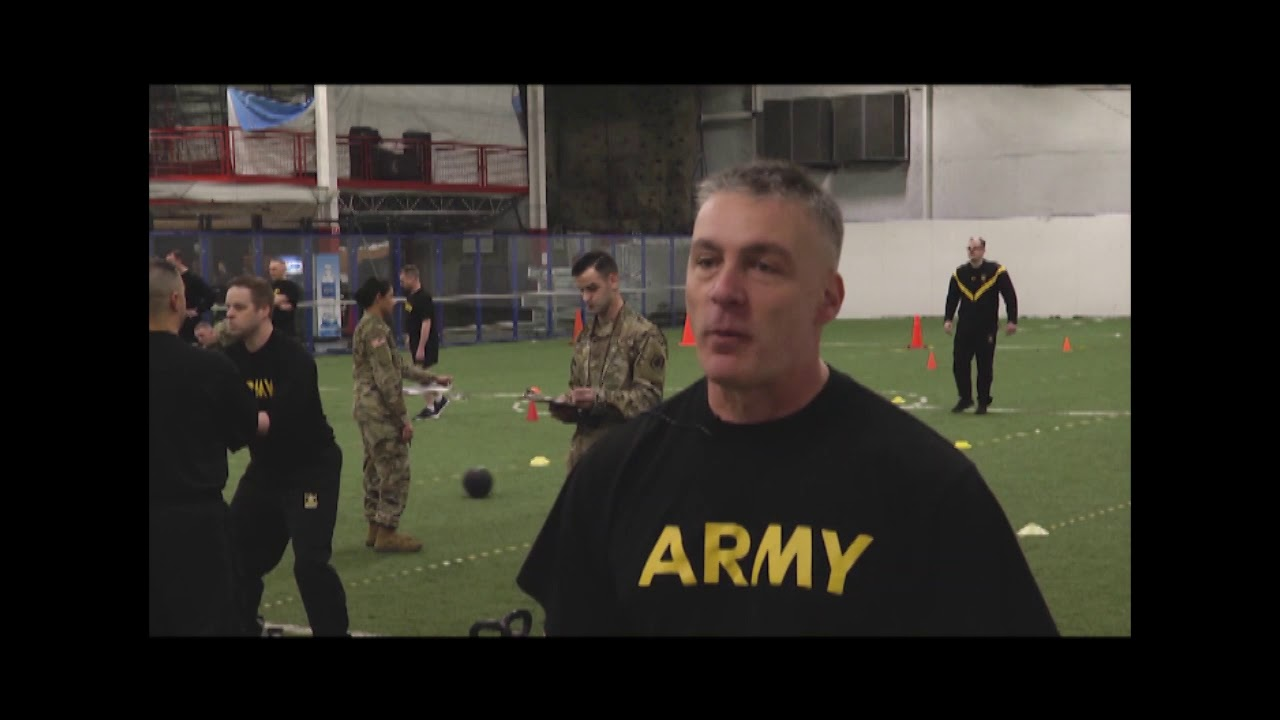 99th Readiness Division Soldiers test out the new ACFT for the first time in Londonderry, New Hampshire.