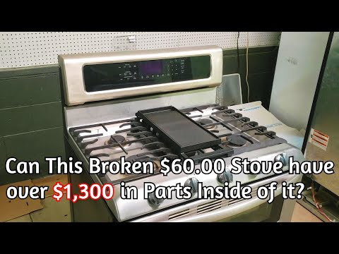 KitchenAid Gas Stove Tear Down - How Much Parts Can Be Sold Out Of A Broken $60 Stove?