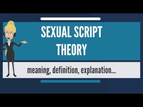 What is SEXUAL SCRIPT THEORY? What does SEXUAL SCRIPT THEORY mean? SEXUAL SCRIPT THEORY meaning