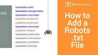 How to Add a Robots.txt File