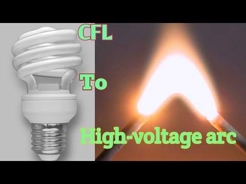 High voltage arc from CFL circuit | Plasma arc | Voltage multiplier circuit