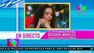 Comunicación con la Vicepresidenta Compañera Rosario Murillo, 16 de Octubre de 2018