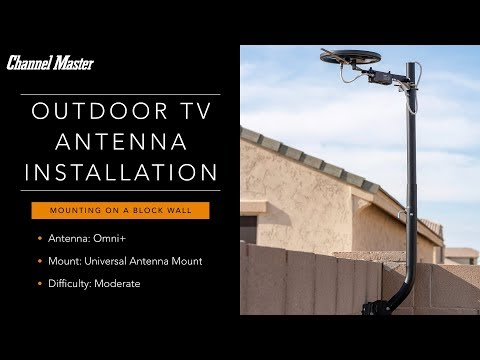 outdoor-antenna-installation-on-a-block-wall-|-channel-master