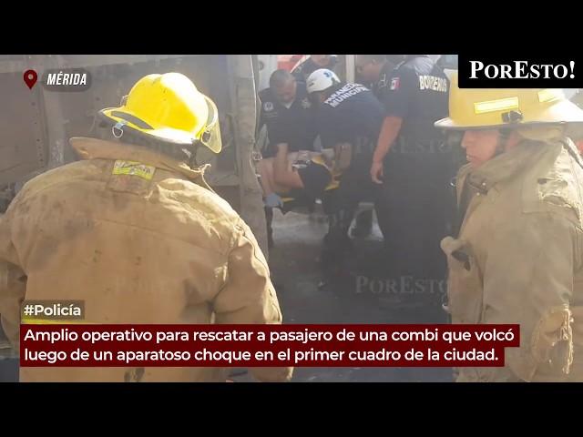 Fuerte operativo para rescatar a herido durante volcadura en el centro