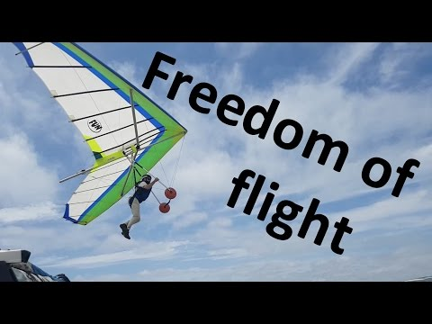 Freedom & Risks of Hang Gliding - My first time & friend's crash