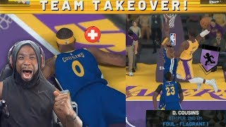 Lebron James Posterized DUNK On Demarcus Cousins Made Him Foul Out! NBA 2K19 MyCareer Ep. 17