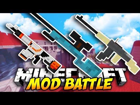 Minecraft EPIC GUN MOD BATTLE! (Minecraft Flan's Mod) W/ LandonMC & Friends