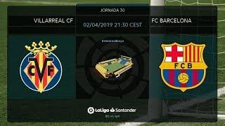 Calentamiento Villarreal CF vs FC Barcelona