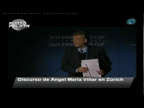 Discurso lamentable de Ángel María Villar en Zurich (punto pelota)