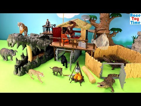 Thumbnail: Schleich WildLife Crocodile Jungle Research Playset Fun Toys For Kids - Learn Animals Names