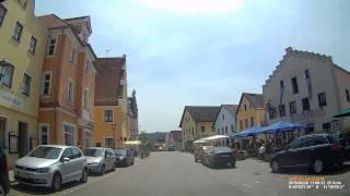 D: Stadt Beilngries. Landkreis Eichstätt. Kleine Fahrt durch die Stadt. Mai 2015