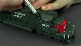 HO Scale DCC SD40T-2 Southern Pacific Tunnel Motor Weathered & Detailed in 4 minutes