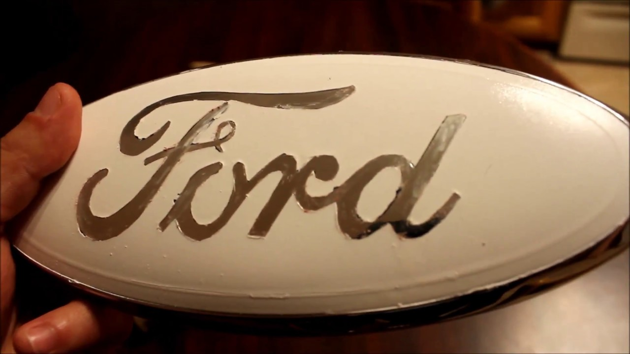How to paint ford emblem  6 0 powerstroke goes a step whiter